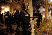Second night of riots after the death of two young people killed in a collision with police car and their motorbike, Villiers le Bel, France - Sebastien ORTOLA - 26-11-2007