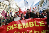 Civil servants one day strike for higher pay and against job cuts, Paris, France. - Nicolas TAVERNIER - 08-02-2007