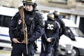 Armed CRS policeman with an M1 Carbine, armed police units on the streets of Paris - Denis Allard - 09-01-2015