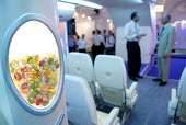 The interior of the Airbus A380, at Farnborough International Airshow in Hampshire, U.K. - Rogan Macdonald - 14-07-2006