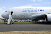 The Airbus A380 on display at Farnborough International Airshow in Hampshire, U.K - Rogan Macdonald - 14-07-2006
