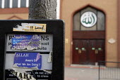 An islamic sticker, on a pelican crossing opposite the East London Mosque in Whitechapel. - Rogan Macdonald - 13-04-2007