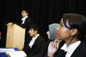 A moot or mock court in A level Law at Joseph Chamberlain Sixth Form College. - Roy Peters - 08-07-2011