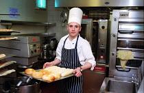 Chef cooking Hyatt Hotel Birmingham, baking bread. - Roy Peters - 29-05-2003