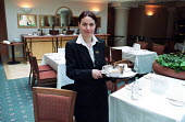 Waiters and waitresses Hyatt Hotel Birmingham - Roy Peters - 29-05-2003