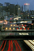 Traffic flowing into and out of Birmingham at night. - Roy Peters - 15-09-2001
