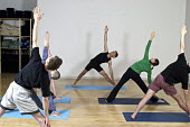 Iyengar Yoga session. - Roy Peters - 08-02-2003
