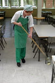 Dinner ladies working in the secondary school canteen. - Roy Peters - 05-10-2003