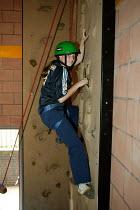 Easington Community School, County Durham September 2004 - Roy Peters - 2000s,2004,adolescence,adolescent,adolescents,child,CHILDHOOD,children,climb,climber,climbers,climbing,communities,Community,edu education,female,females,girl,girls,height,high,juvenile,juveniles,kid,