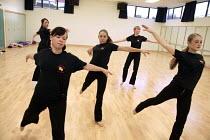 Dance studies at Shotton Hall Comprehensive, County Durham. - Roy Peters - 2000s,2004,ace art culture arts,adolescence,adolescent,adolescents,child,CHILDHOOD,children,class,comprehensive,COMPREHENSIVES,dance,dancer,dancers,dancing,edu education,education,juvenile,juveniles,k