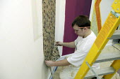 Decorator, apprentice - seen learning his craft at UK Skills Competition, Derby College - Roy Peters - 20-01-2005