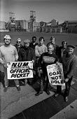 Pickets at Lynemouth colliery Northumberland during the miners strike - Ray Rising - 01-05-1984