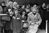 Steel strike 1980 Steelworkers lobby TUC the women in the forefront London - Ray Rising - 26-03-1980