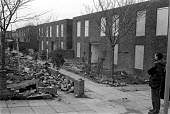 run down housing estate with many homes boarded up to prevent vandalism Maryport Cumbria 18.3.88 - Stefano Cagnoni - 18-03-1988