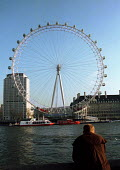 The London Eye Millennium Wheel - the wheel is the fourth tallest structure in London and will become the highest accessible viewpoint in the Capital on completion. The Wheel will be a major tourist a... - Stefano Cagnoni - 17-01-2000