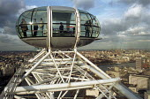 View from one of the capsules on the London Eye Millennium Wheel - the wheel is the fourth tallest structure in London and has the highest accessible viewpoint in the Capital. The Wheel has become a m... - Stefano Cagnoni - 17-02-2000