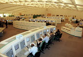 Air traffic controllers in training in the Ops Room at the New En Route Air Traffic Control Centre at Swanwick in Hampshire. Swanwick will became operational in late January 2002 - Stefano Cagnoni - 16-02-2001
