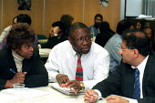 Black trade union member and prospective trade union members at a career development seminar organised by PROSPECT - Stefano Cagnoni - 13-03-2002