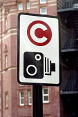 Road signs indicating the beginning of the Congestion Zone, which is to be introduced by Transport for London on February 17th, 2003 - Stefano Cagnoni - 2000s,2003,C,camera,cameras,charge,charging,cities,city,communicating,communication,CONGESTED,congestion,congestiOn Charge,congestiOn Charge,congestiOn Charges,EBF economy,ENI environmental issues,hig