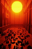 Art installation by Olaf Eliasson at the Tate Modern, The Weather Project. - Stefano Cagnoni - 04-01-2004
