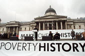 Thousands gathered in Trafalgar Square to listen as Nelson Mandela makes the keynote speech at the Make Poverty History rally organised by a coalition of groups lobbying for an end to the debt crisis... - Stefano Cagnoni - 03-02-2005