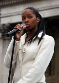 Jamelia sings to the thousands gathered in Trafalgar Square at the Make Poverty History rally organised by a coalition of groups lobbying for an end to the debt crisis and calling for positive change... - Stefano Cagnoni - 2000s,2005,activist,activists,artist,ARTISTS,black,BME Black minority ethnic,CAMPAIGN,campaigner,campaigners,CAMPAIGNING,CAMPAIGNS,coalition,DEMONSTRATING,demonstration,DEMONSTRATIONS,EQUALITY,exclude