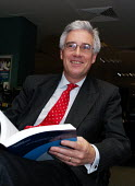 Lord Turner in his office leafing through a copy of the Pensions Commission Report on the eve of its official publication - Stefano Cagnoni - 29-11-2005