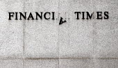 Sign of The Times: Damaged logo on the side of the Financial Times building - Stefano Cagnoni - 28-04-2006
