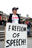 Freedom of Expression rally held at Trafalgar Square, The rally was called to highlight attacks on freedom of speech and censorship of political and religious opinion - Stefano Cagnoni - 25-03-2006