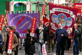 NATFHE & AUT members join the TUC May Day march through central London for the first time as a new union. - Stefano Cagnoni - 01-05-2006