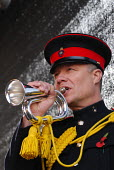 Bugler plays The Last Post to mark the beginning of a 2 minutes silence held at 11 a.m on the 11th November 2006 in Trafalgar Square in memory of all those whose lives have been lost through war and a... - Stefano Cagnoni - 11-11-2006