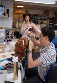 Staff at work in the Wigs department at Covent Garden's Royal Opera House - Stefano Cagnoni - 23-06-2008