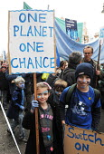 Young children join The Wave - the Uk's biggest ever demonstration in support of action on climate change; held just ahead of the UN climate summit in Copenhagen - Stefano Cagnoni - 2000s,2009,activist,activists,adolescence,adolescent,adolescents,blue,boy,boys,CAMPAIGN,campaigner,campaigners,CAMPAIGNING,CAMPAIGNS,child,CHILDHOOD,children,Climate Change,DEMONSTRATING,demonstration