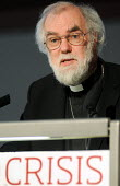 Dr Rowan Williams, Archbishop of Canterbury, making the keynote speech at a TUC Conference on the economic recession entitled: Beyond Crisis. - Stefano Cagnoni - ,2000s,2009,christian,christianity,christians,Church of England,cities,city,Conference,conferences,Crisis,DOWNTURN,making,member,member members,members,monotheistic,people,protestant,protestants,reces