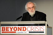 Dr Rowan Williams, Archbishop of Canterbury, making the keynote speech at a TUC Conference on the economic recession entitled: Beyond Crisis. - Stefano Cagnoni - 2000s,2009,christian,christianity,christians,Church of England,cities,city,Conference,conferences,DOWNTURN,making,member,member members,members,monotheistic,people,protestant,protestants,recession,rec