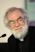 Dr Rowan Williams, Archbishop of Canterbury, smiling whilst at a TUC Conference on the economic recession entitled: Beyond Crisis. - Stefano Cagnoni - 2000s,2009,christian,christianity,christians,Church of England,cities,city,Conference,conferences,DOWNTURN,EMOTION,EMOTIONAL,EMOTIONS,HAPPINESS,happy,member,member members,members,monotheistic,people,