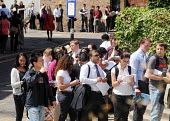 Graduates who have just left University queueing for the London Graduate Fair in London where they are seeking employment. - Stefano Cagnoni - 2000s,2009,a,asian,asians,BAME,BAMEs,Black,BME,bmes,career,careers,chinese,cities,city,COMPETITATIVE,competition,crowd,crowded,diversity,DOWNTURN,EBF Economy,edu,EDU Education,educate,educating,educat