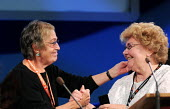 Anita Halpin of the NUJ receiving the TUC Gold Badge from TUC President Sheila Bearcroft GMB at the 2009 Congress in Liverpool - Stefano Cagnoni - 2000s,2009,conference,conferences,congress,gmb,Gold,Liverpool,member,member members,members,NUJ,people,President,Trade Union,Trade Union,trade unions,Trades Union,Trades Union,trades unions,TUC,TUC Co