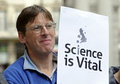Science is Vital campaign protest outside the Treasury against cuts in Government science and research budget - Stefano Cagnoni - 09-10-2010
