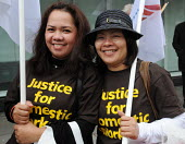 Women wearing 'Justice for Domestic Workers' sweat shirts join the May Day rally passing through the centre of London - Stefano Cagnoni - 01-05-2010