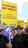 Actor and Equity member, Roger Lloyd Pack, at a protest in 2010 against cuts to government funding of the Arts Council. - Stefano Cagnoni - 23-10-2010