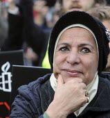 Global Day for Egypt organised by the TUC and Amnesty International. People celebrate the resignation of Mubarak. Trafalgar Square, London. - Stefano Cagnoni - 12-02-2011