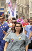 Gay Pride demonstration in London on the 40th anniversary of the first Gay Pride march. RCN members on the demonstration. - Stefano Cagnoni - 02-07-2011