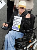 The Hardest Hit - a campaign group of united Disability Rights organisations, protest in London against cuts in disability benefit. It was the biggest ever protest by disabled people in the UK. - Stefano Cagnoni - 11-05-2011