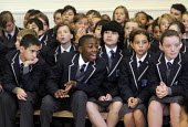 The first ever Year 7 intake at the West London Free School, Hammersmith, London. - Stefano Cagnoni - 2010s,2011,assembly,BAME,BAMEs,black,BME,bmes,boy,boys,child,CHILDHOOD,children,cities,city,cultural,diversity,ED Education,edu,educate,educating,education,educational,ethnic,ethnicity,female,females,