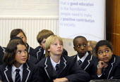 The first ever Year 7 intake at the West London Free School Hammersmith, London. - Stefano Cagnoni - 2010s,2011,assembly,BAME,BAMEs,black,BME,bmes,boy,boys,child,CHILDHOOD,children,cities,city,cultural,diversity,ED Education,edu,educate,educating,education,educational,ethnic,ethnicity,female,females,
