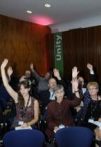 EQUITY delegates vote at TUC. TUC Congress 2011 London. - Stefano Cagnoni - 12-09-2011