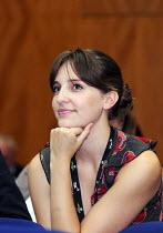 Laura Bailey, EQUITY delegate, listening to debate. TUC Congress 2011 London. - Stefano Cagnoni - 14-09-2011
