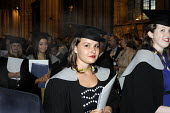 Undergraduates leave Canterbury Cathedral clutching their degree certificates after the Graduation ceremony for students from the University of Kent. - Stefano Cagnoni - 09-07-2012