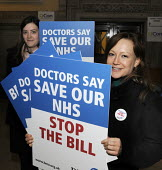 Save Our NHS rally organised by the TUC. BMA members opposed to the Bill - Stefano Cagnoni - 07-03-2012